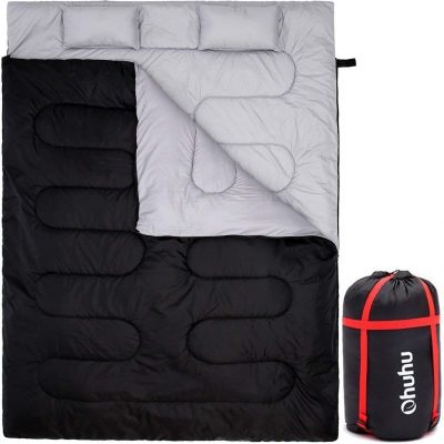 Ohuhu Double Sleeping Bag 2 Pillows