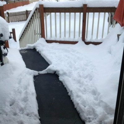 Heated Snow Melting Half Walkway Mat by HeatTrak