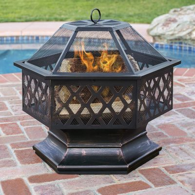 Best Choice Products Hex Shaped Fire Pit