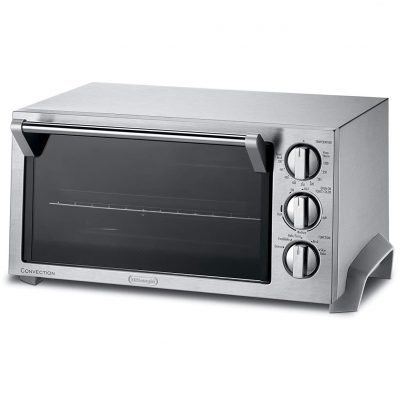 Silver De'longhi Convection Oven With Auto 6-Slice Feature