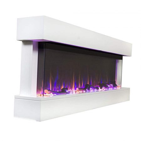 Touchstone Chesmont White Mantle Electric Fireplace