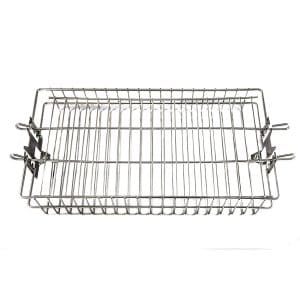 OneGrill BBQ Stainless Steel Universal Rotisserie Basket