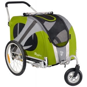 DoggyRide Outdoors Green Novel Dog Stroller