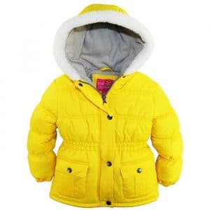Pink Platinum Girls Sherpa Trim Hood Puffer Jacket