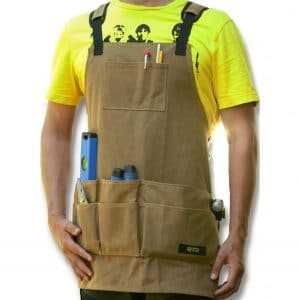 Waxed Canvas Work Apron with Pockets