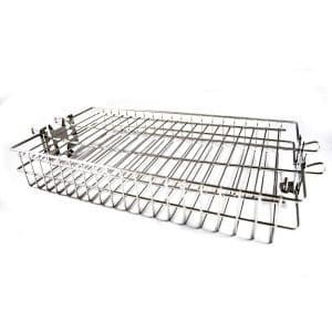 OneGrill BBQ Products Chrome Steel Universal Rotisserie Basket