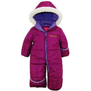 Pink Platinum Baby Girls One Piece Warm Puffer Jacket