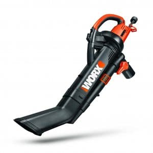 TRIVAC 12 Worx WG509 12 Amp Electric Vacuum/Blower/Mulcher with an all Metal Mulching Multi-Stage System