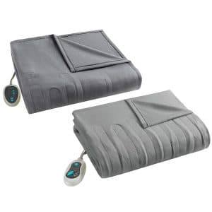 Beautyrest Grey Electric Heated Blanket