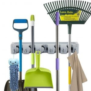 Newdora Mop Broom Holder Wall Mounts