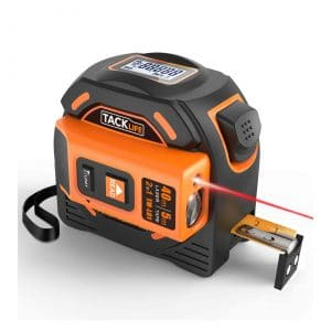 Tacklife 2-In-1 Laser Tape Measure with Nylon Coating