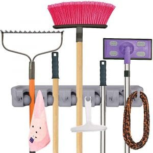 Anybest Mop Broom Holder Wall Mounts