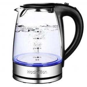 HadinEEon Kettle Electric Glass Water Boiler