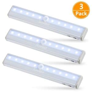 Sunnest 3 Pack Motion Sensor Closet Lights