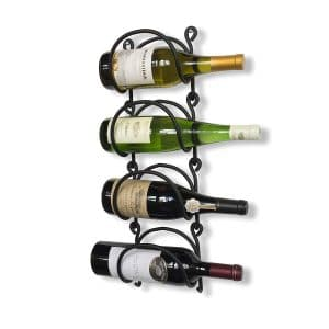 Wallniture Wrought Iron Curved Wall Wine Rack