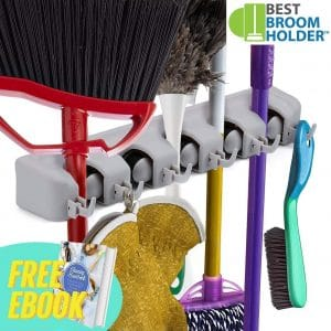 Best Broom Holder Broom and Mop Holder Wall Mount