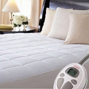 Sunbeam Luxury Quilted Electric Mattress Pad
