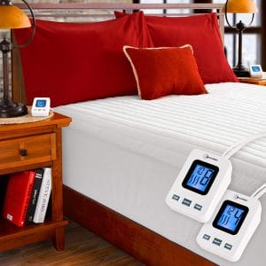 SimplyWarm Electric Heated Channel Mattress Pad