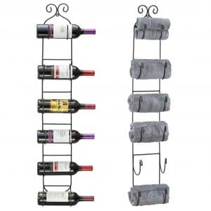 Sorbus Wall Mount 6 Bottles Wine Rack