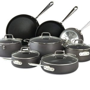 All-Clad Hard Anodized Non-Stick Cookware Set, E785SB64