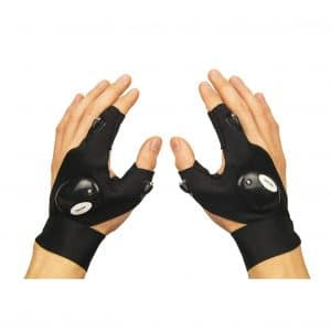Coroler Cool Fingerless LED Flashlight Gloves