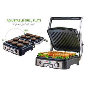 Ovente GP1861BR 6-Slice 1500W Multi-Purpose Griddler