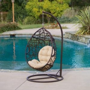 Christopher Knight Home Wicker Tear Drop Hanging Chair