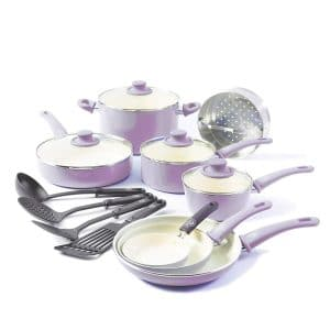 GreenLife Soft Grip 16-Piece Cookware Set, CC001792-001