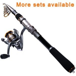 PLUSINNO Telescopic Fishing Reel and Rod