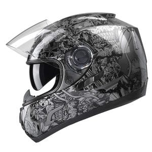 GLX Motorcycle Helmet Street Approved