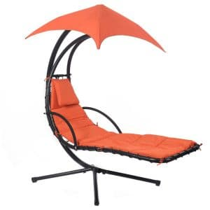 Giantex Hanging Chaise Lounge Chair