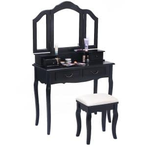 Giantex Bathroom 4 Drawers Vanity Set Dressing Table