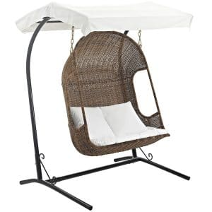 Modway Vantage Outdoor Wood Swing Chair