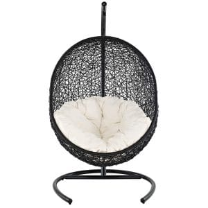 Modway Encase Rattan Outdoor Swing Chair