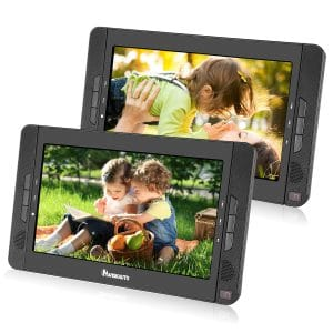 NAVISKAUTO Dual Screen 10.1 inches Portable DVD Player