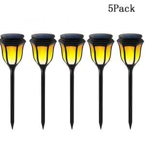 GUORZOM Solar Flame Outdoor Lights 96 LED Garden Lamp