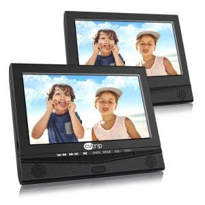 CUTRIP-10.1 inches Dual Screen 5 Hours Rechargeable Battery Portable DVD Player