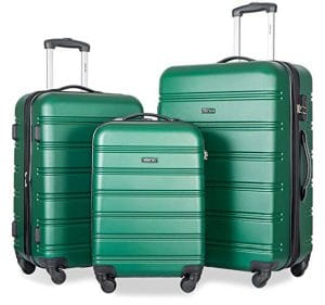 Merax Travelhouse Luggage Set with Expandable Spinner Set (Green)