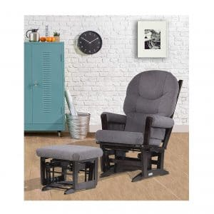 Dutailier Modern Glider Multi-Position Recliner and Ottoman