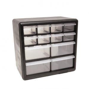 Homak 12-Drawer Parts Plastic Organizer, HA01012001