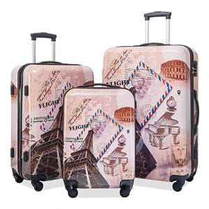 Murtisol 4 Pieces Luggage Sets Lightweight Durable, Black