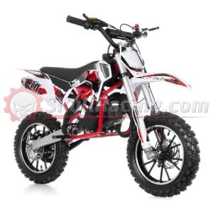 SkullRacing 50RR Gas Powered Dirt Bike Motorcycle (Red)