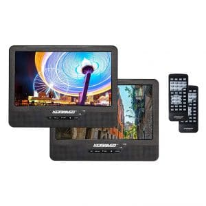 "Koramzi Portable Dual Screen 9"" Dual DVD Player"