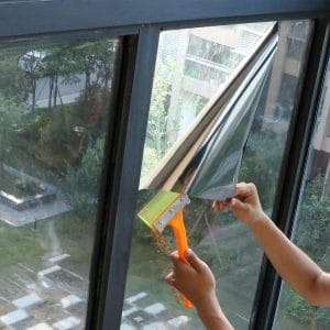One Way Mirror Window Film Silver 5/% Privacy Tint Reflection 36 inch X 13 Feet