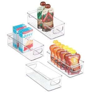 mDesign Stackable Plastic Food Storage Bin