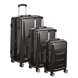 AmazonBasics Hard-shell Luggage Set, Slate Grey