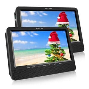 WONNIE Dual Portable 10.5 inches DVD Player
