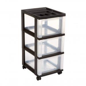 IRIS 3-Drawer Rolling Storage Organizer