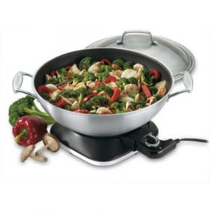 Cuisinart WOK-730 Electric 7-2/7-Quart Stainless Steel Wok