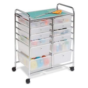 Honey-Can-Do Rolling Storage 12 Drawers Plastic Organizer